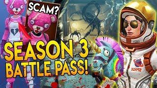 Battle Pass Saison 3! NOUVEAU SKINS, SPACE SKINS!! FORTNITE BATAILLE ROYALE ARNAQUE?! MODES DE JEU FUITE