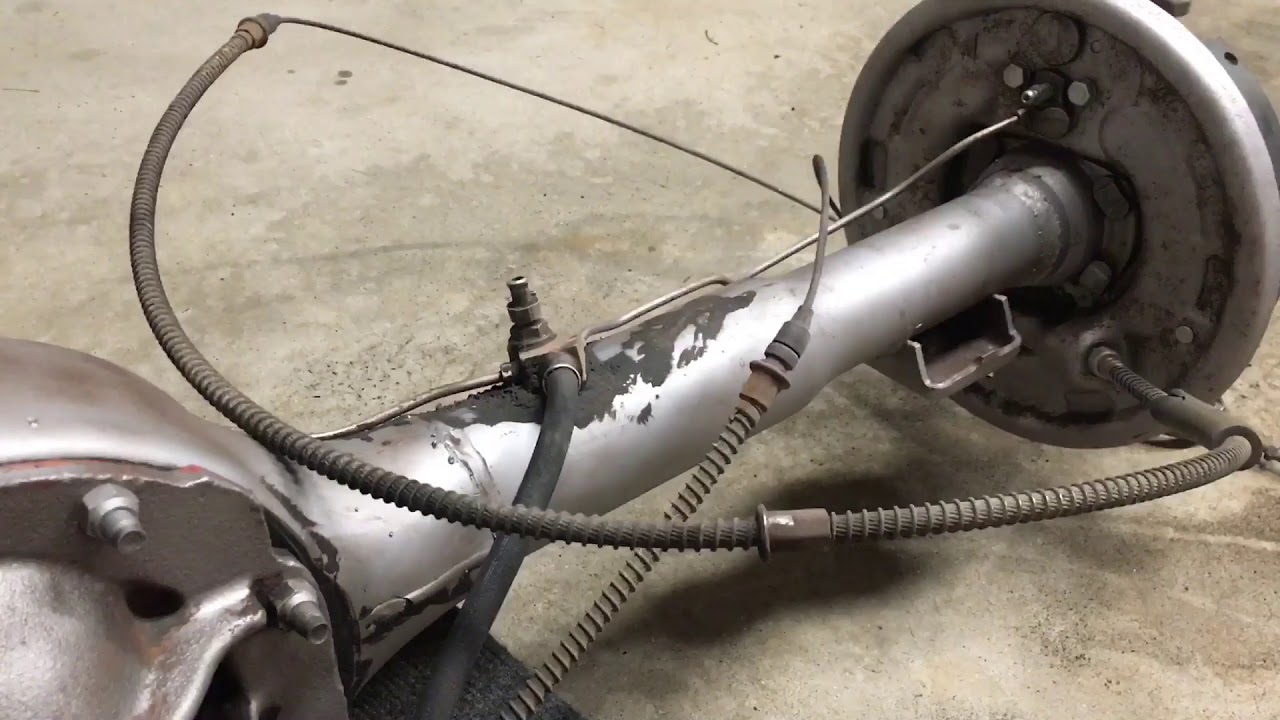 Rear differential restoration has begun 1966 ford mustang 8 open rear