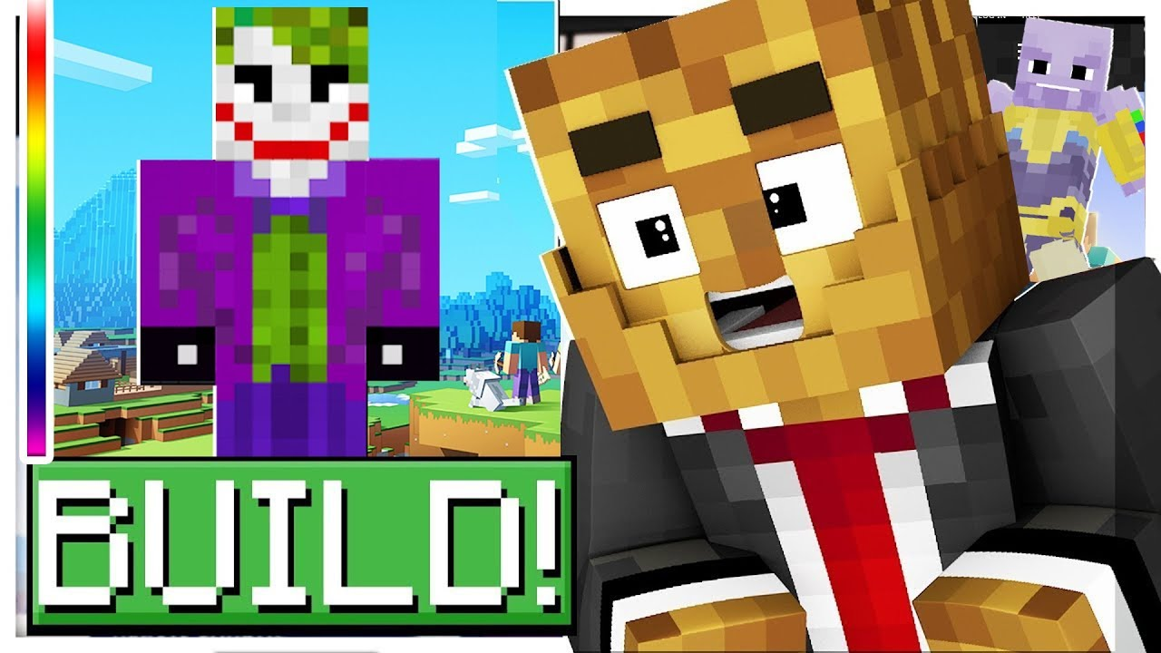 UPDATE SUPER VILLAINS* BUILD YOUR FAVORITE SUPERHERO! - MINECRAFT