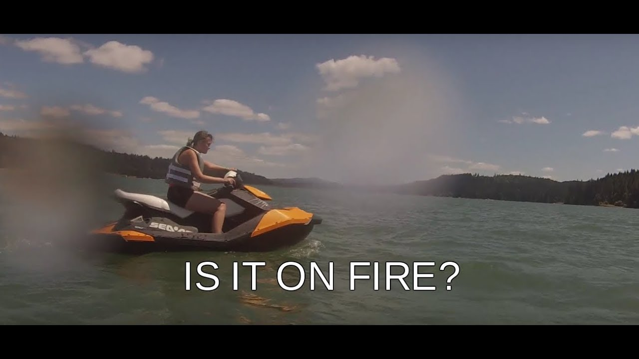 BLOWING UP 4 STROKE JET SKI WITH 2 OIL