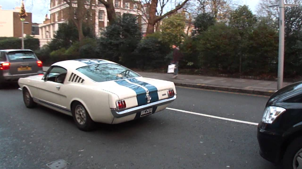 Original 1960s Ford Mustang Muscle Car Seen On Kings Road London
