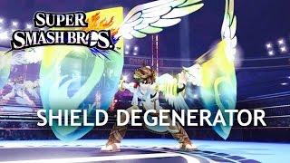 Shield Degenerator Badge Vs Normal Shield - SSB4 Wii U