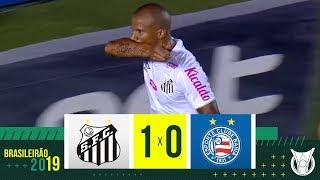 SANTOS 1 X 0 BAHIA - Melhores Momentos - Brasileirão 2019 (31/10)