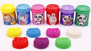 Surprise Toys in Ice Cream Cups   Learn Colors   Counting Numbers 1-10   Play Doh   ToyBus