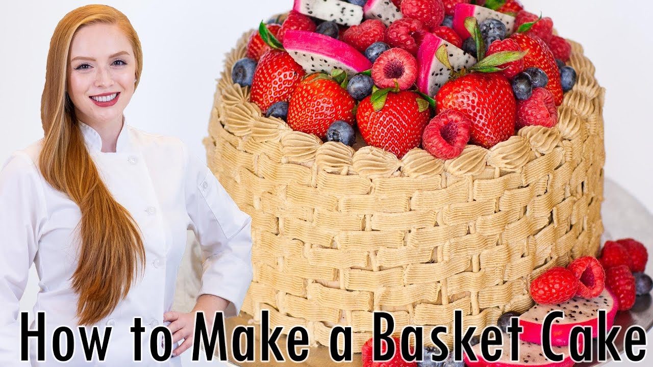 Basket Weave Cake Decorating Tutorial - YouTube