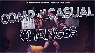 TF2 Jungle Inferno Update Day 4 - COMP + CASUAL CHANGES! CONTRACTS + MORE!
