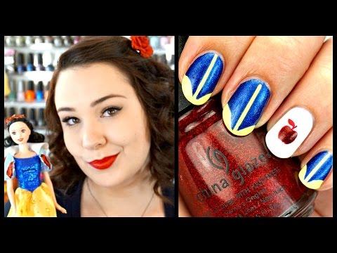 Polishes I'd Give a Disney Princess + Snow White Nail Art Tutorial