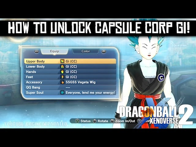 Dragon Ball Xenoverse 2 How To Unlock Capsule Corp Gi Clothes For