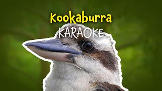 Kookaburra (instrumental nursery rhyme - lyrics video for karaoke)