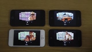 GTA San Andreas iPhone 5S vs. iPhone 5 vs. iPhone 4S vs. iPhone 4 Graphics Comparison Review