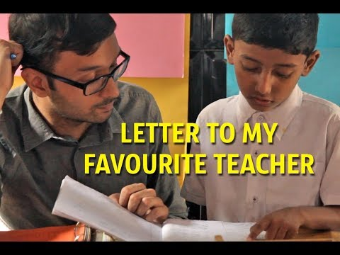 letter to my favourite teacher