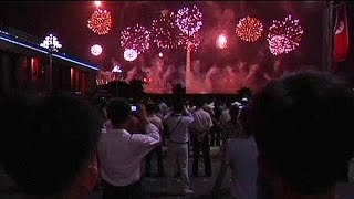 North Korea celebrates 61st anniversary of end of Korean War with fireworks - no comment
