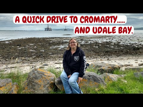 A drive along the Cromarty Firth, Scotland. Scotland campervan trip. July 2017.