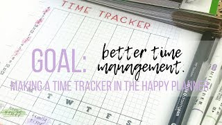 Time Tracker in Classic My Happy Planner Better Time Management Productivity Tips