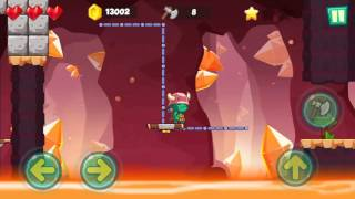 Jungle Adventures: Super World - Lava Plains Level 8... Gameplay (Free Game On Android)