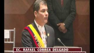 Asamblea al Instante: Posesión Presidente Rafael Correa