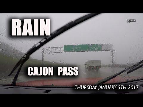Cajon Pass Rain January 5 2017