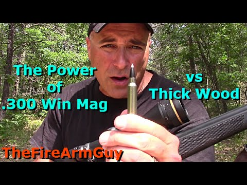 The Power of .300 Win Mag vs Thick Wood - TheFireArmGuy