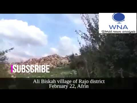 YPG militants target a Turkish armoured vehicle with an explosive device