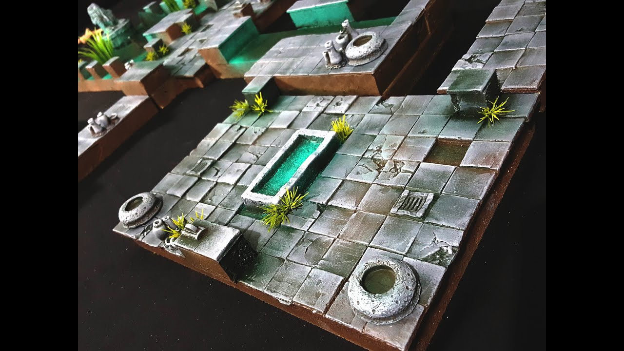 Water Temple Dungeon Tiles for D&D, dnd, Pathfinder ...