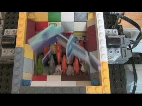 Lego Power Functions Shredder Shreds A Plane Youtube
