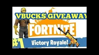 vBucks Giveaway!! !coins=vBucks!! -- (Fortnite Battle Royale) | 925+ Wins