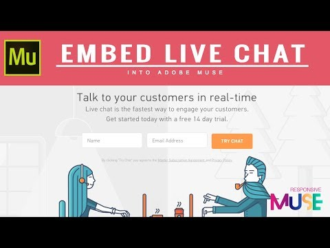 Embed A Live Chat In Your Adobe Muse Website