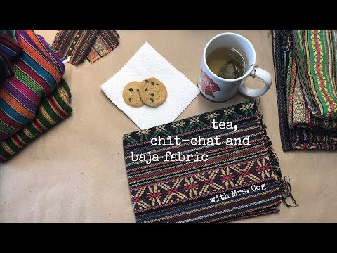 Tea, Chit-chat And Baja Fabric