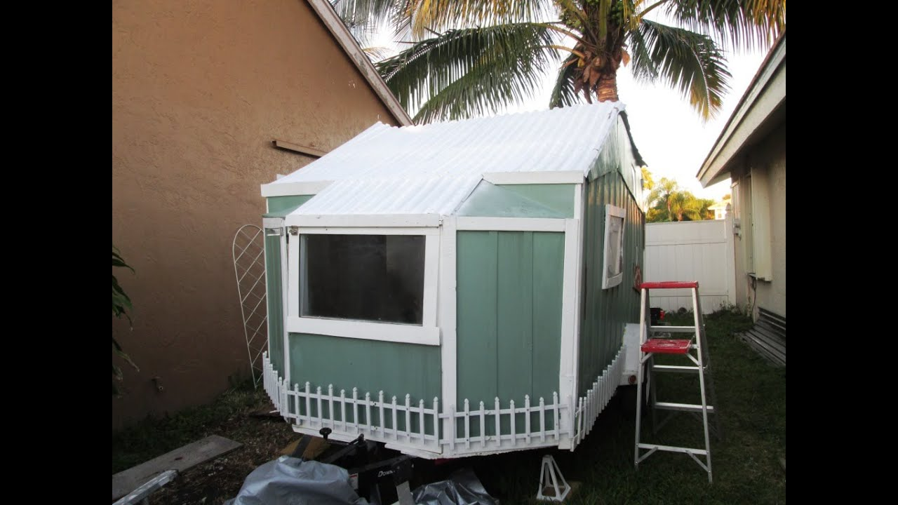 Tiny House DIY Camper Conversion 7  Side Walls  Progress
