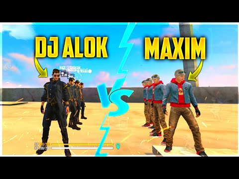 DJ ALOK VS MAXIM FACTORY CHALLENGE 4 VS 4 WHO WILL WIN ? |AJJU BHAI| HAPPY PRINCE #factoryfreefire