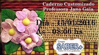 Caderno Customizado Profª Jana Gaia