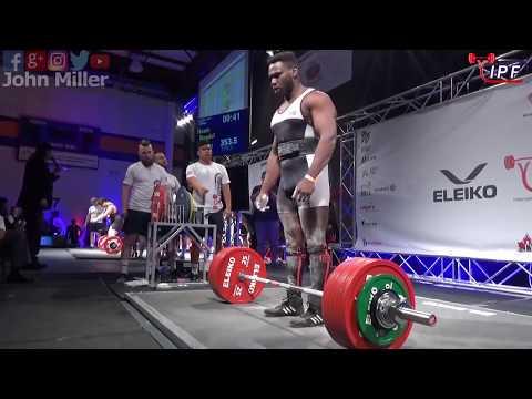 Rondel Hunte - 883.5kg 1st Place 105kg *Jr* - IPF World Classic Powerlifting Championships 2018
