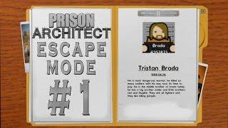 Prison Architect - Escape Mode #1 - Tristan Brada'yla Kaçış -