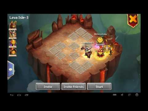 Castle Clash How I Farm Lava 3 With My Smurfs (Arctica Team Needed)