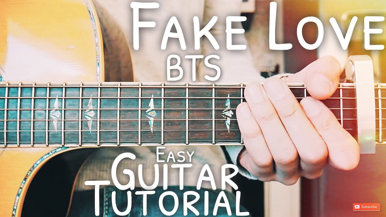 Fake Love Bts Guitar Lesson For Beginners Fake Love Guitar