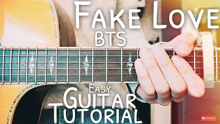 Fake Love BTS Guitar Lesson for Beginners // Fake Love Guitar // Lesson #488