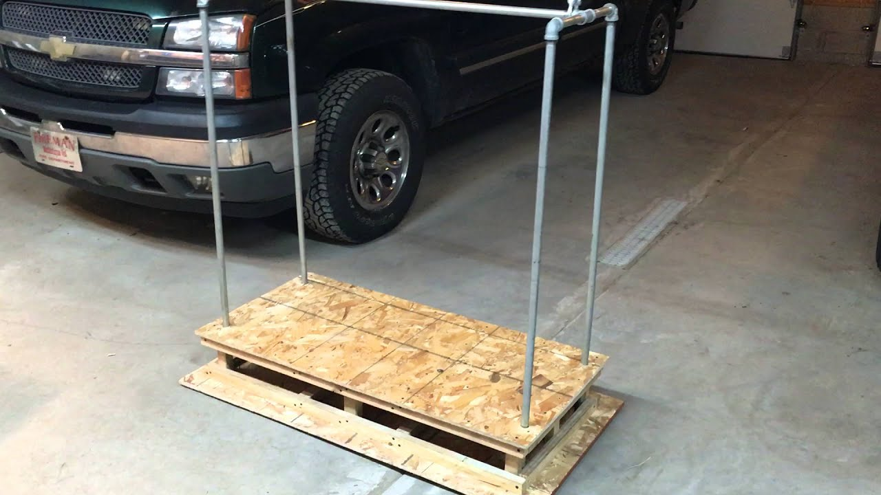 Garage With Lift Kits : Home made garage attic lift first design youtube