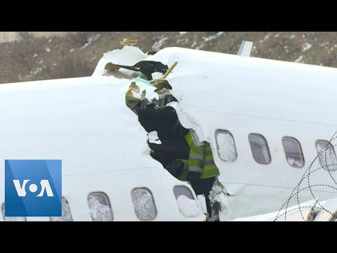 Workers Remove the Wreckage of the Pegasus Plane that Crashed in Istanbul, Turkey