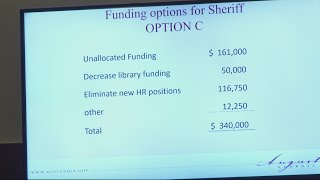 Other departments face cuts to help Sheriff's Office