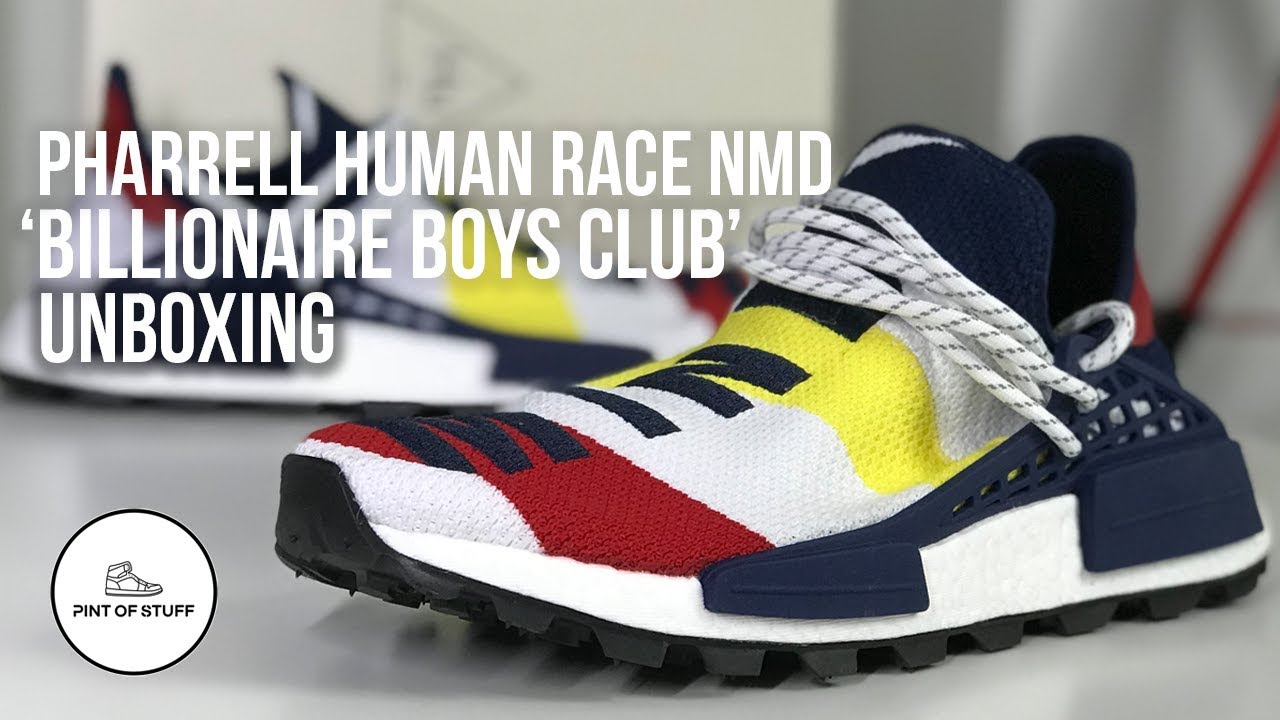 075342cb73818 Pharrell Williams x adidas NMD Hu Billionaire Boys Club Sneaker Unboxing  with Mr B