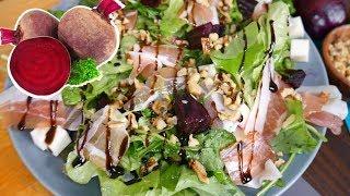 Салат из свеклы. Простой ресторанный рецепт. Запекаем свёклу в духовке.