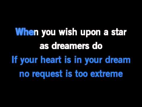When You Wish Upon A Star Karaoke Original Disney