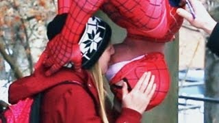 Spiderman Kissing Prank thumbnail