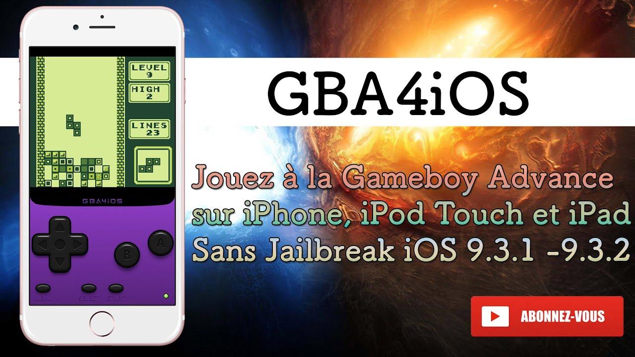 jeux sur gba4ios