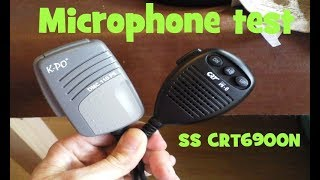 CB RADIO UK mic test.  KPO DMC-110 v CRT M6