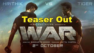 War Official Poster Out |  Hrithik Roshan Vs Tiger Shroff Movie | Latest Bollywood Movies