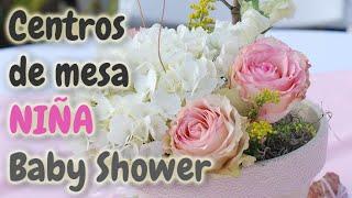 40 Centros de Mesa para Baby Shower *Niña* HD
