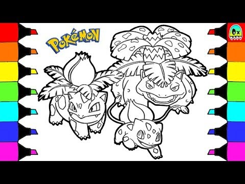 Pokemon Coloring Pages Bulbasaur Evolution Colouring book fun for ...