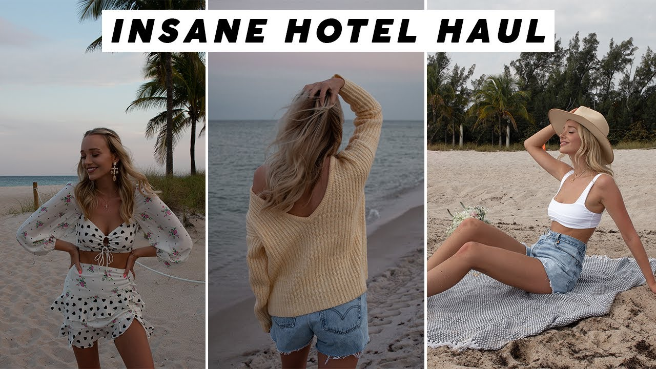 INSANE HOTEL UNBOXING! Spring Break USA Haul ????? warm weather outfit ideas and inspo! 7