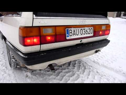 AUDI 100 C3 2.3 EXHAUST SOUND